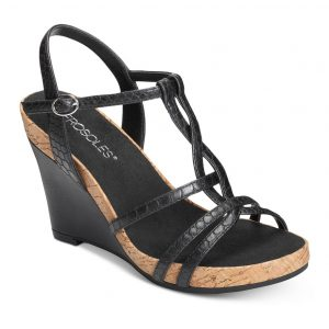 Women's Plush Song Wedge Sandal Black