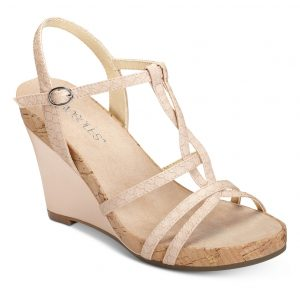 Women's Plush Song Wedge Sandal Pink Snake
